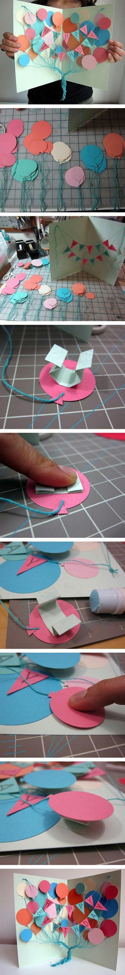 Ý tưởng thiệp sinh nhật 3D dễ thương