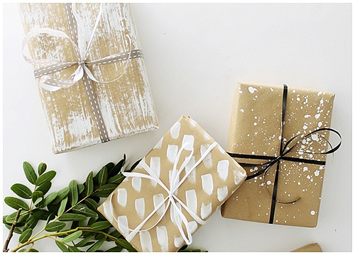 Ý tưởng gói quà với giấy nâu