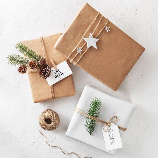 Ý tưởng gói quà với giấy kraft